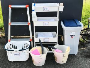 洗車専用付属備品の配置